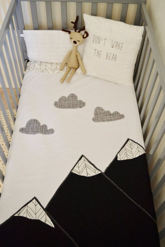 308 best camping nursery images on pinterest child room for Mountain crib bedding