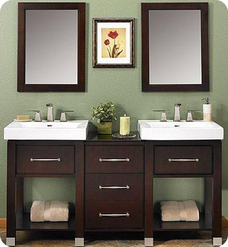 Fairmont designs midtown 64 contemporary double sink for Decorplanet bathroom vanities