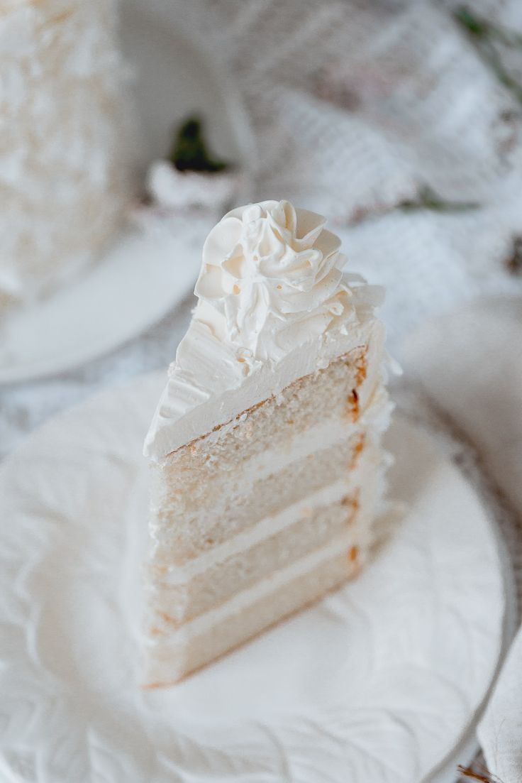 Deluxe White Coconut Cake With Silky Coconut Buttercream And Isomalt Sail Recipe And Food Photography