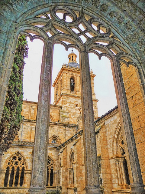 Cathedral from Cloister Ciudad Rodrigo, Castille and Leon, Spain