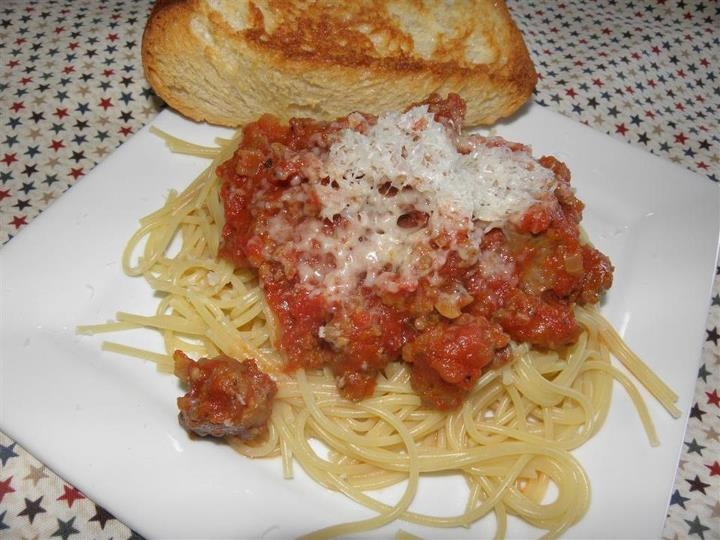 Italian Sausage Spaghetti | Recipes | Pinterest