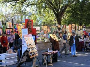Favorite things to do  artists and musicians around  Jackson Square, New Orleans