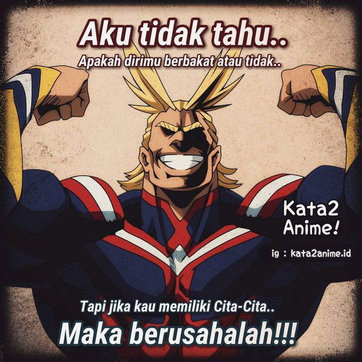Pin di Kata kata anime