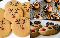 Doces de Natal em forma de rena