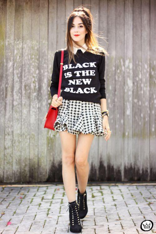 FashionCoolture - 25/04/2015 look du jour Displicent black and white skirt (1)