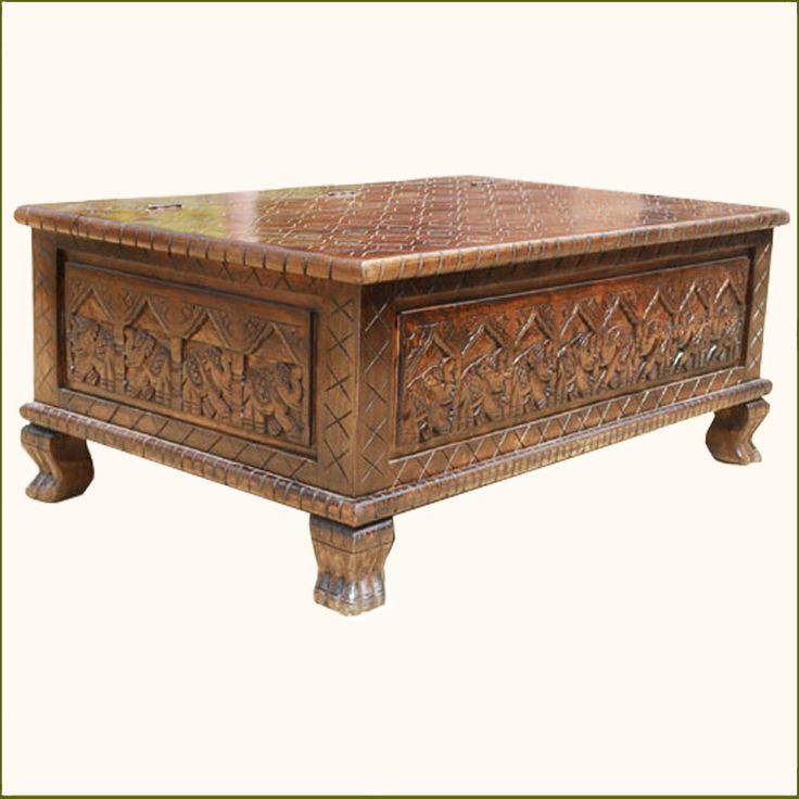173 best images about antique furniture on pinterest Indian trunk coffee table