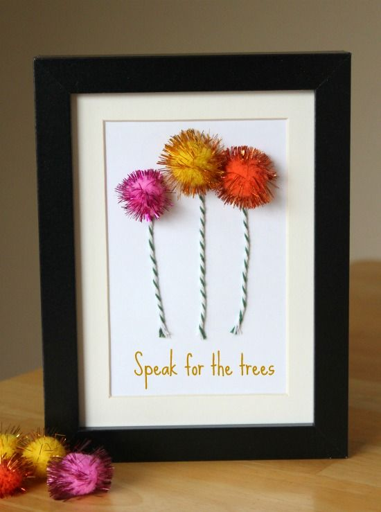 Truffula Trees: Crafts Ideas, Trees Crafts, Birthday Parties, The Lorax, Lorax Crafts, Earth Day, Truffula Trees, Dr. Seuss, Dr. Suess