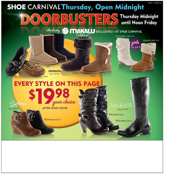 Shoe Carnival Black Friday 2012 Ad Scans