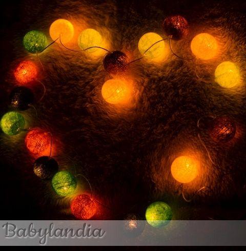 Piękne lampki Cotton Ball Lights :)