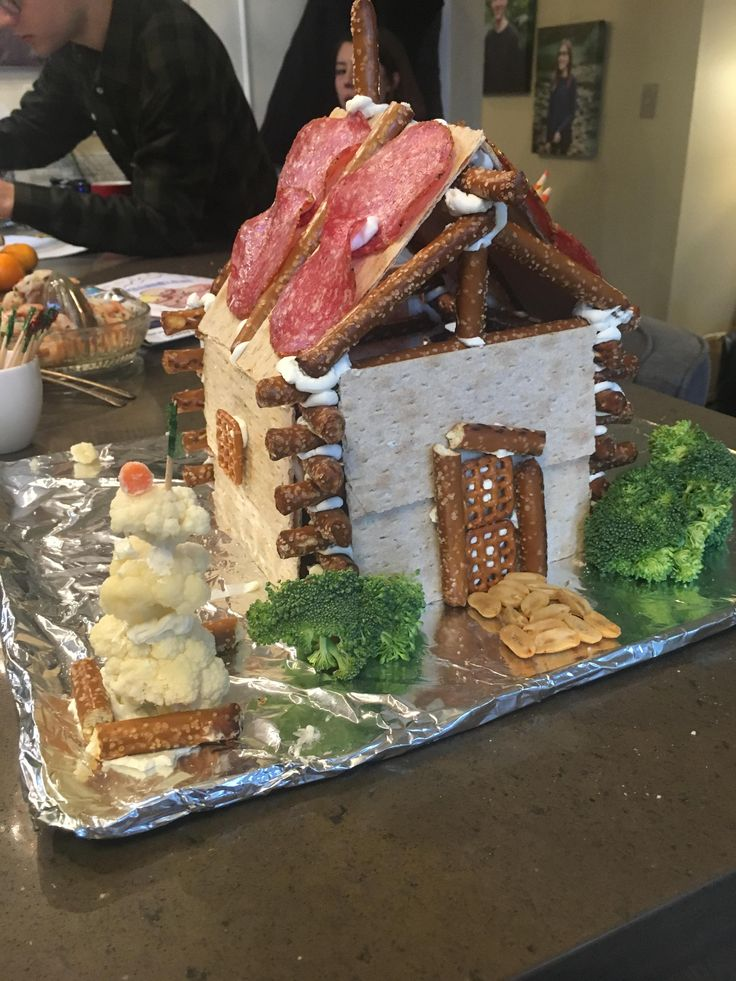 """Savory"" Gingerbread House [Homemade] recipes food"