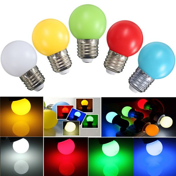Wholesale Price Free Shipping E27 Led Bulbs E27 2w Pe Frosted Led Globe Colorful White Red Green Blue Ylellow Lamp Ac110 240v Yellow Lamp