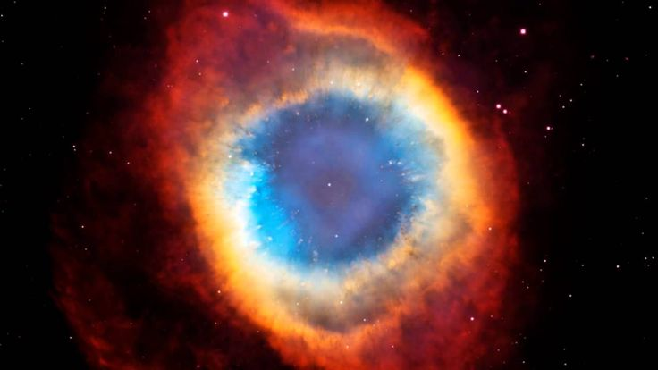 Infrared Visible Light Comparison View Of The Helix Nebula: Humble Thyself And Awesome God By One Accord Trio ( The