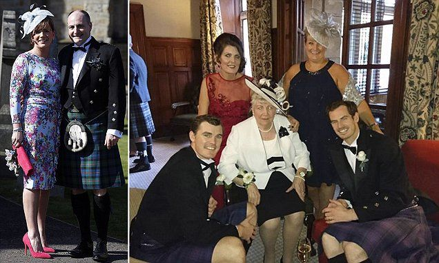Andy Murray celebrates his father's wedding at his luxury hotel