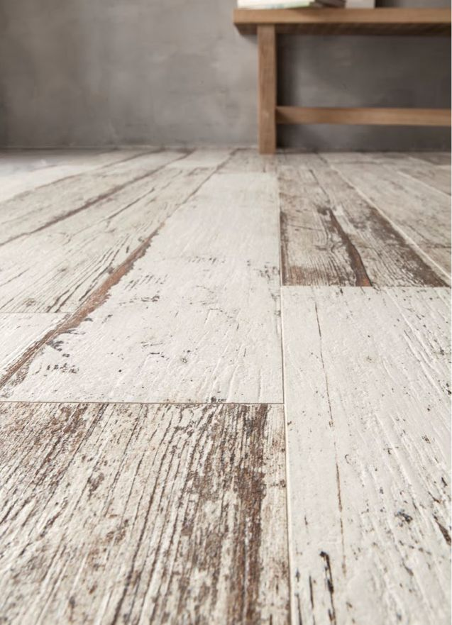 Rustic or beach style... this BLENDART natural whitewashed wood effect porcelain tile is perfect! Available through NATURAL TILE, Maroochydore. www.naturaltile.com.au