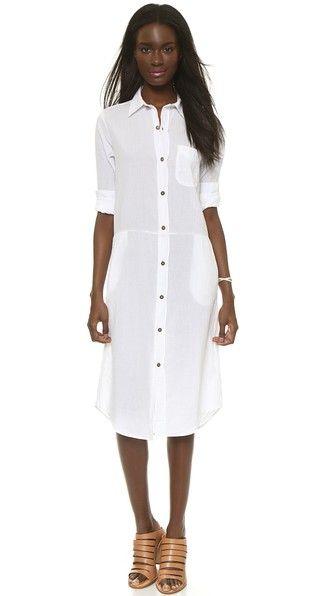 Current/Elliott Длинное платье-рубашка