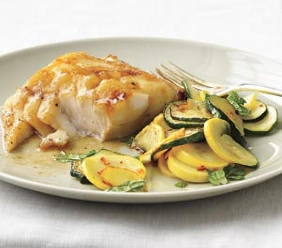 Soy-Glazed Fish With Sauteed Summer Squash