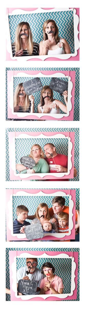 """(1) Great photobooth idea (2) My sister totally needs a pic like the """"If you can't beat 'em, join 'em"""" pic, lol."""