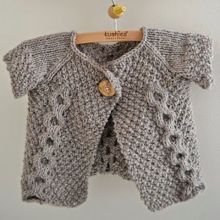 Hand Knitting Tutorials: Otto Day Cardigan (Revised) - Free Pattern