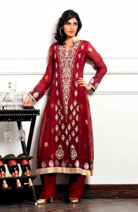 05fd8639ff3 Color  Deep Red. Embroidery  Thread work. Embroidery Style  Fine thread work  aro…