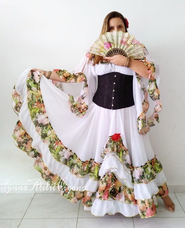 Conjunto Espanhola 3 Babados Com Floral Comprar Online Com