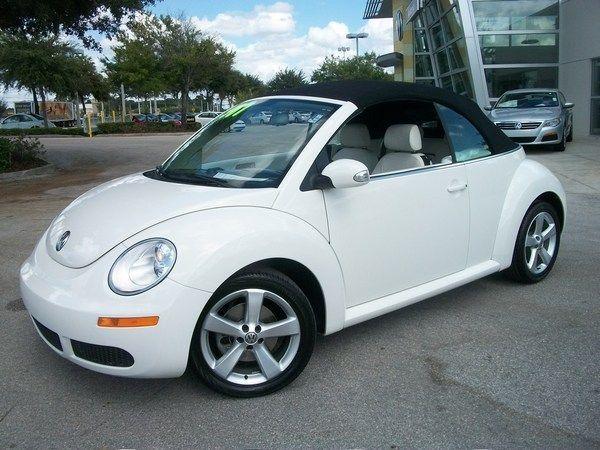 2007 Triple White Vw Beetle Conv Black Top In 2020 Dream Cars Vw Bug Convertible Volkswagen Beetle Accessories