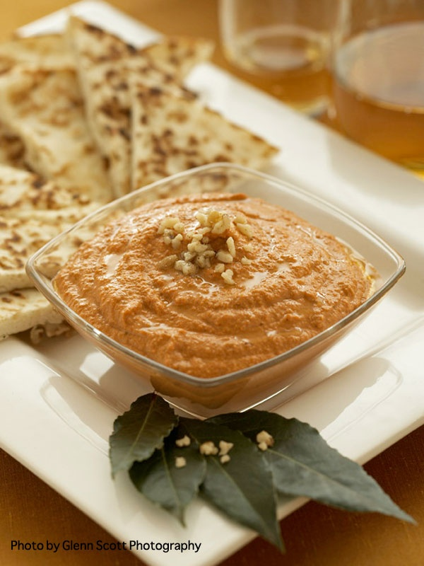 Muhammara (Roasted Red Pepper and Walnut Spread) from the cookbook The ...