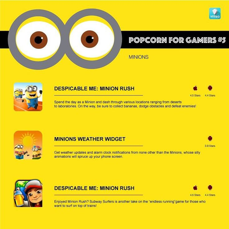Celebrate the return of the #Minions with these fun games for all ages. #mobilegames #indiedev #indiegames #gamers #love #likeforlike #cute #popcorn #photooftheday