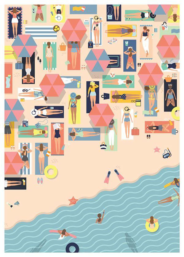 beach full #illustration #flat
