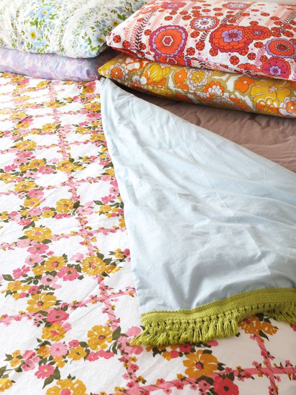 How To: Vintage Sheet Duvet Cover | My Poppet Makes