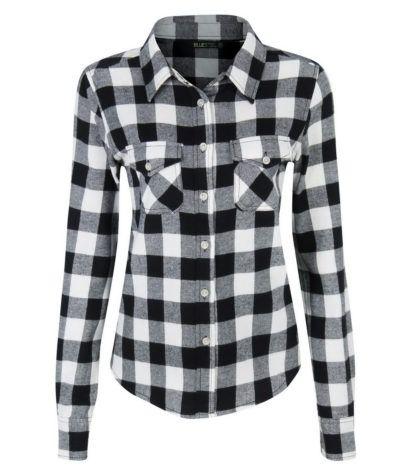 camisas xadrez feminina branca e preta