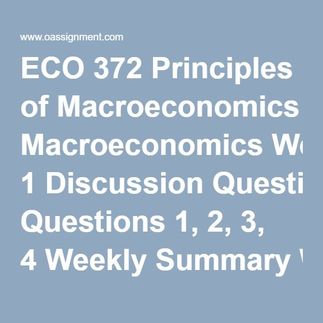 Macroeconomics essay exam questions