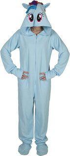 Rainbow Dash Footie Pajamas