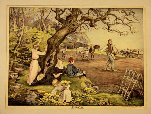 I den første del om årets gang gav jeg en introduktion til egnen omkring barndomshjemmet i Nyrup og vinterens sysler. Jeg vil her gå videre med foråret og travlheden i marken. Jeg har fundet nogle ældre illustrationer som ganske godt beskriver hvordan det foregik i min barndom.