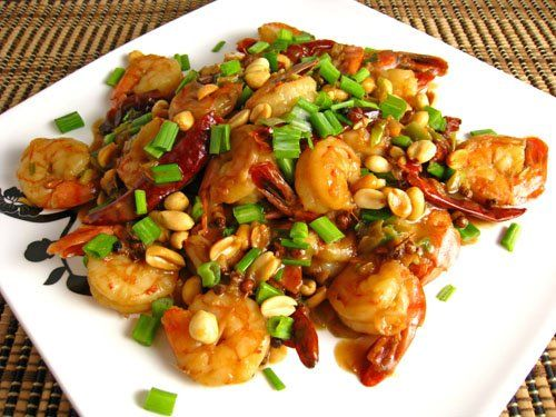 Shrimp Kung Pao: Kung Pao Shrimp, Shrimp Kung, Favorite Dishes, Healthy Shrimp, Healthy Food, Asian Seafood Dishes, Favorite Recipes, Pao Prawn, Closet Cooking