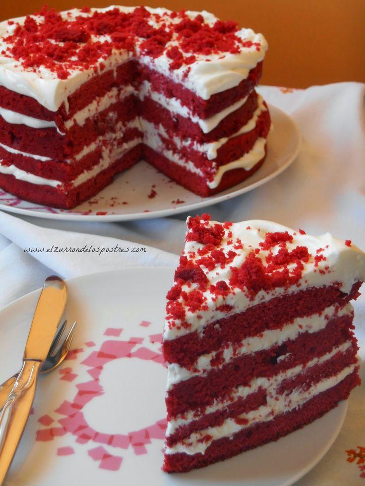 Tarta Red Velvet Con Crema De Queso Más