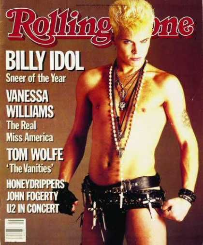 Billy Idol...Sneer of the Year, Rolling Stone 1986 ...