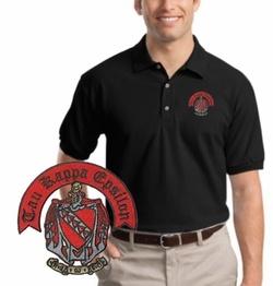Tau Kappa Epsilon Patch Polo SALE $27.95. - Greek Clothing and Merchandise - Greek Gear®