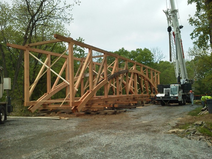 84 best images about work by lancaster county timber for Timber frame bridge