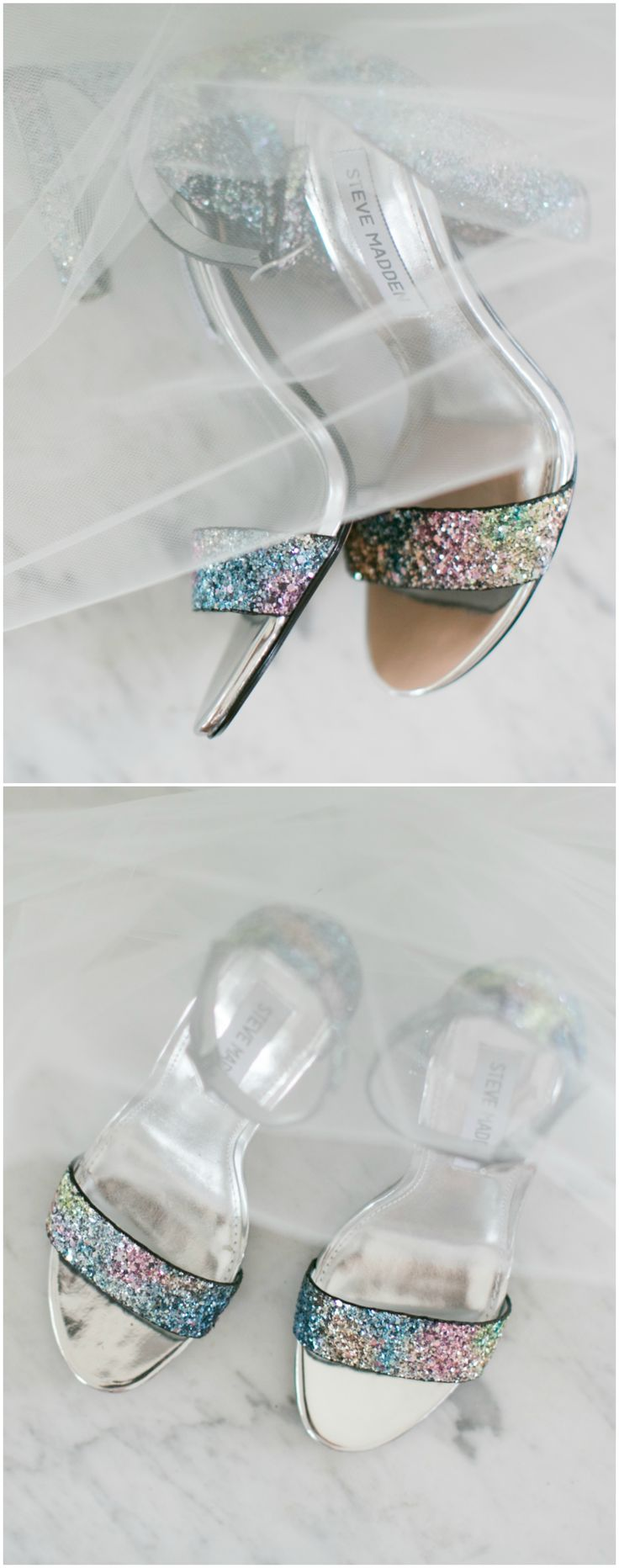 Steven Madden shoes, block heels, black and silver, rainbow glitter // Sarah Brooke Photography
