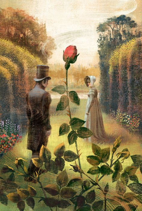 Pride and Prejudice by Jane Austen - illustrated book by Anna & Elena Balbusso , via Behance. #austen