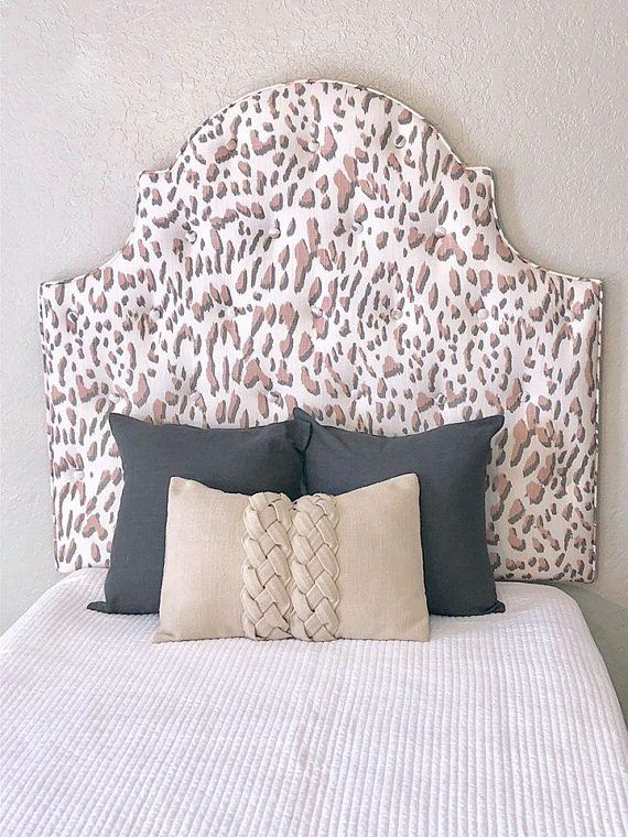 "32/"" Tall Horizontal FEATHER Headboard with Black Border in Crushed Velvet"