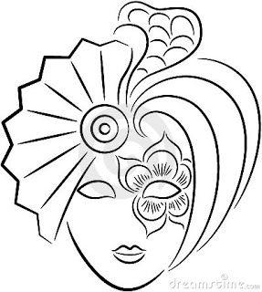 Máscaras de carnaval estilo Veneza para colorir ou imprimir moldes ~ ESPAÇO EDUCAR