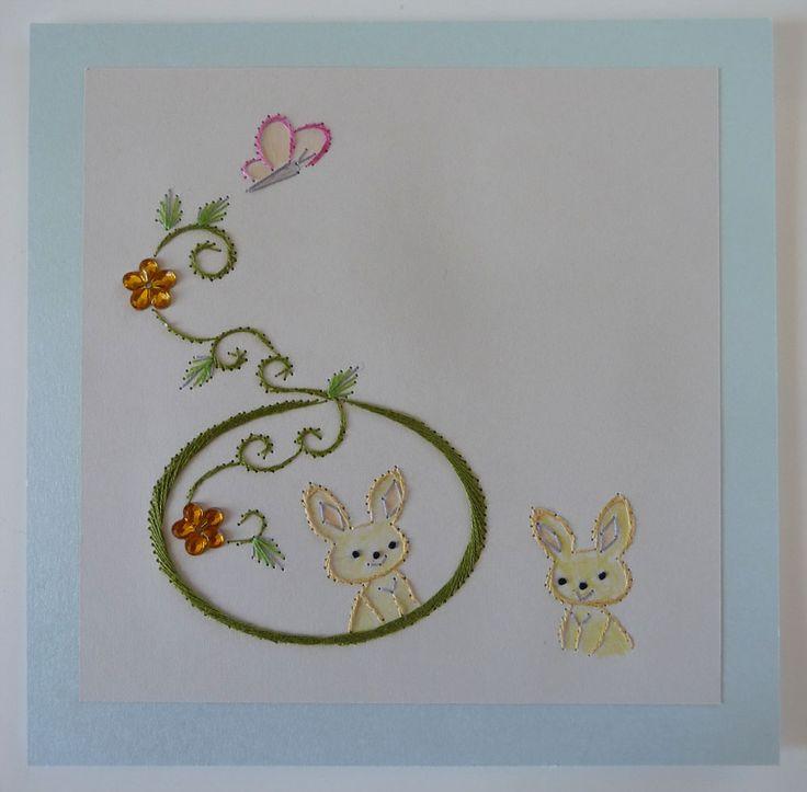 Coniglietti  Lapins ricamo di giuseppina ceraso https://crocettando.wordpress.com/2015/03/05/quadri-e-quadrati/