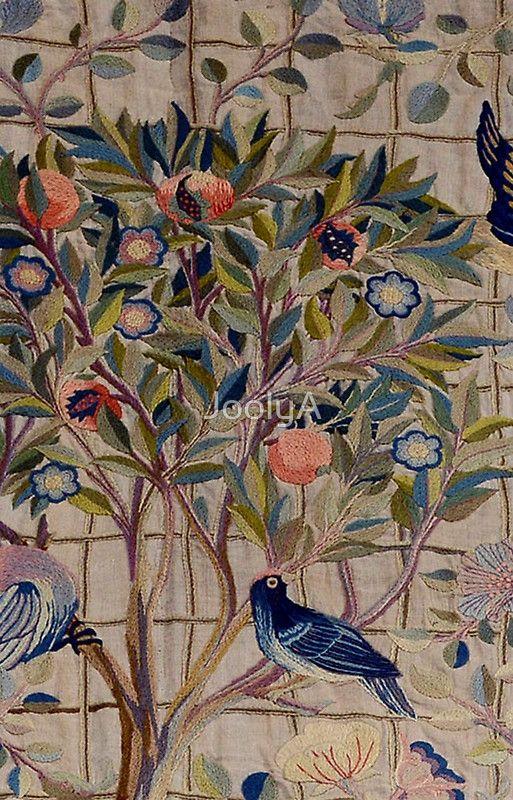 William Morris Kelmscott Trellis Embroidery