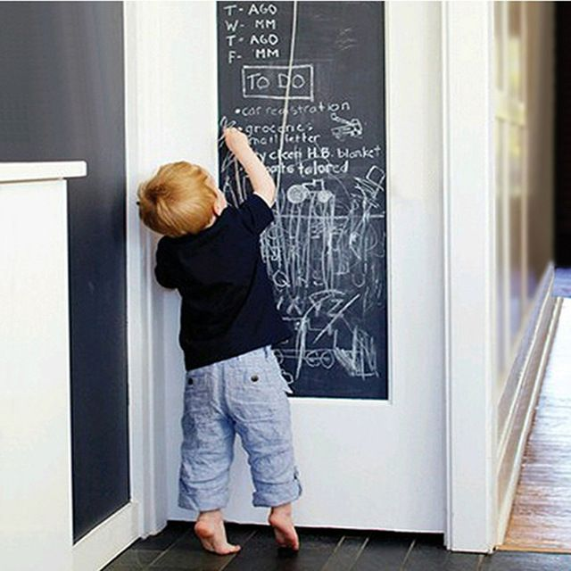 Konyhába - 1pcs Wall Sticker Creative Chalkboard Sticker Removable Blackboard Wall Stickers for Kids Rooms Home Decor With Regular Chalks
