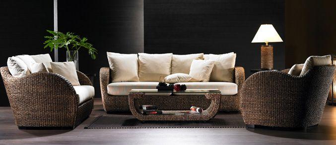 Kingdom Teak Rattan Conservatory Furniture Modern natural comfortable Lamp