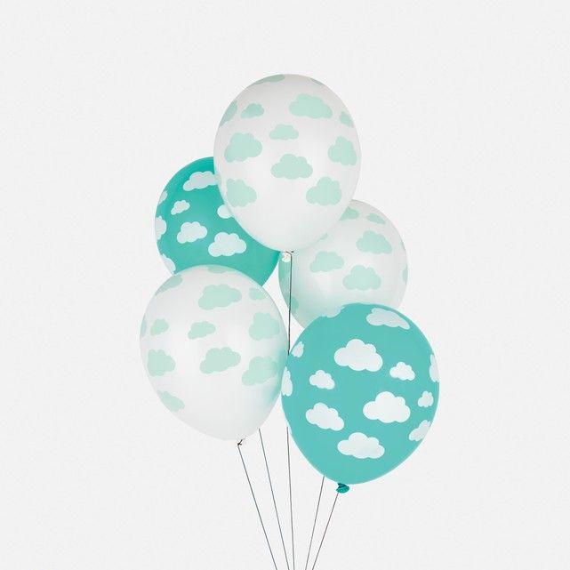 Descripción de los 5 globos nube5 globos de caucho con motivo de nubes.Características de los 5 globos nubeTejido: caucho con látex biodegradableDescubre más artículos de decoración en laredoute.esDimensiones de los 5 globos nube: tamaño del globo inflado 25 cm.