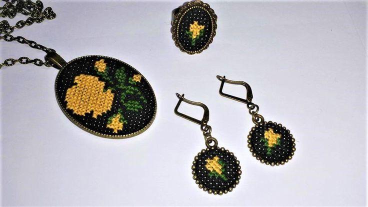 "Set bijuterii handmade ""Vintage ROMANCE"""