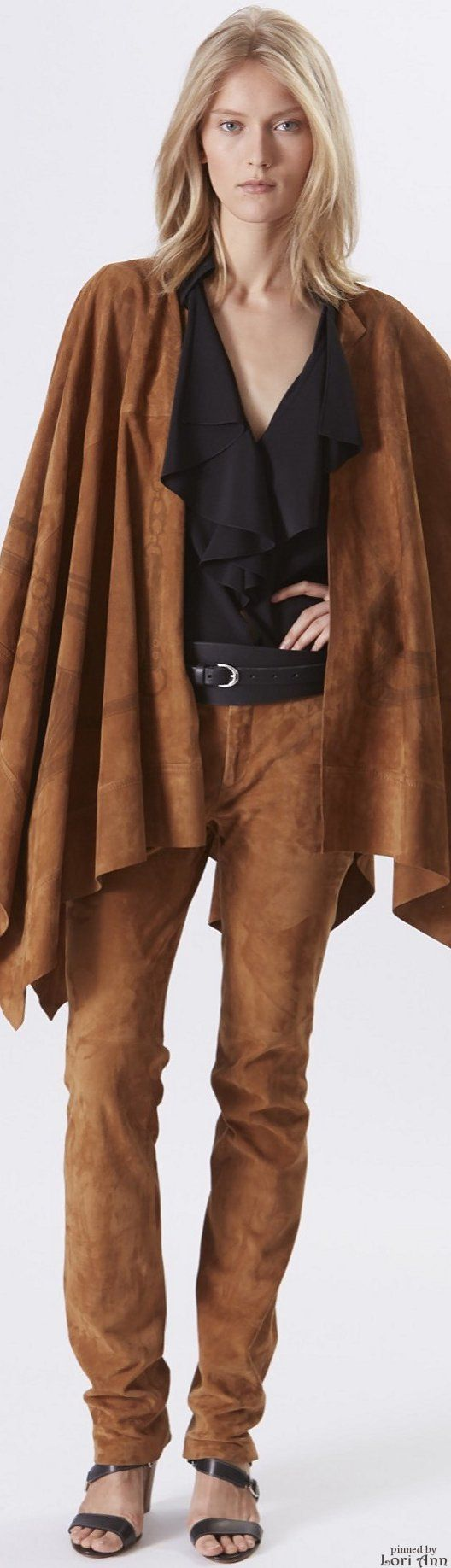 Ralph Lauren Resort 2016 brown women fashion outfit clothing stylish apparel @roressclothes closet ideas