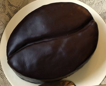 Cake Shaped Like Coffee Bean! It has to be a choc/coffee flavor inside, it has to!